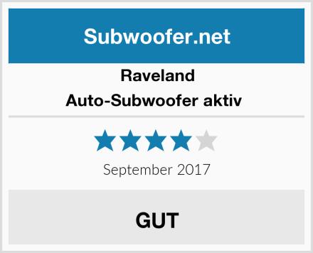 Raveland Auto-Subwoofer aktiv  Test