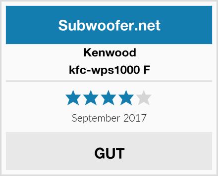 Kenwood kfc-wps1000 F Test