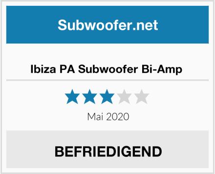 Ibiza PA Subwoofer Bi-Amp  Test
