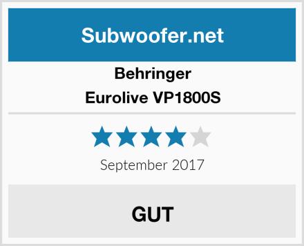 Behringer Eurolive VP1800S Test
