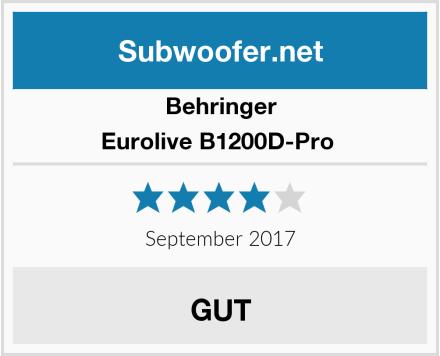 Behringer Eurolive B1200D-Pro  Test