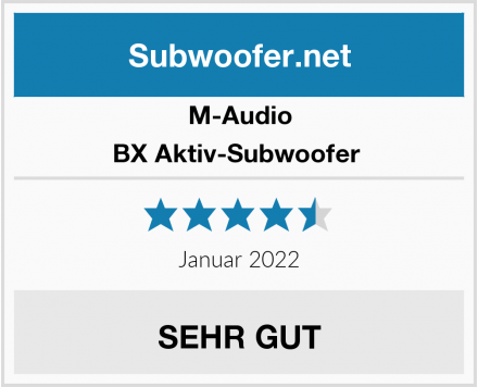 M-Audio BX Aktiv-Subwoofer  Test