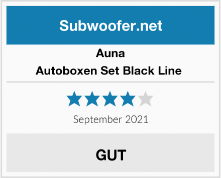 Auna Autoboxen Set Black Line  Test