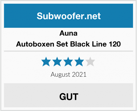 Auna Autoboxen Set Black Line 120 Test