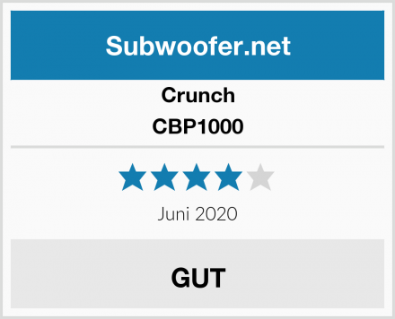 Crunch CBP1000 Test