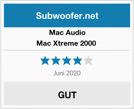 Mac Audio Mac Xtreme 2000  Test
