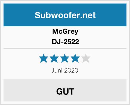 McGrey DJ-2522 Test