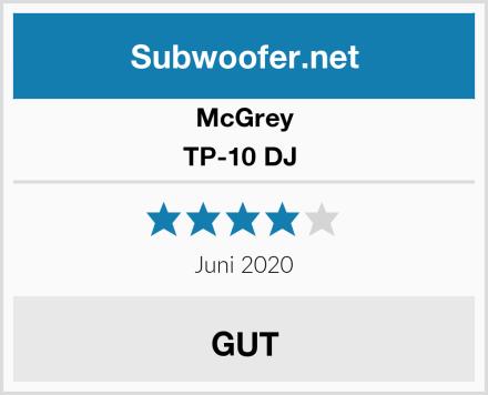 McGrey TP-10 DJ  Test