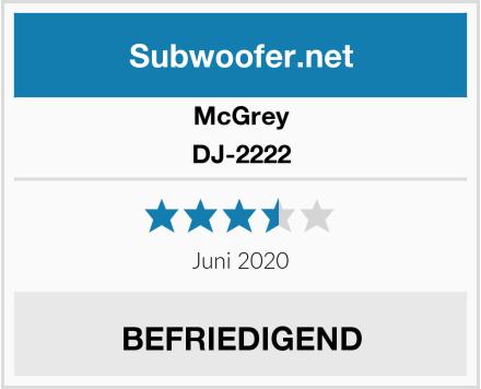 McGrey DJ-2222 Test