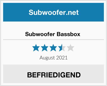 Subwoofer Bassbox  Test