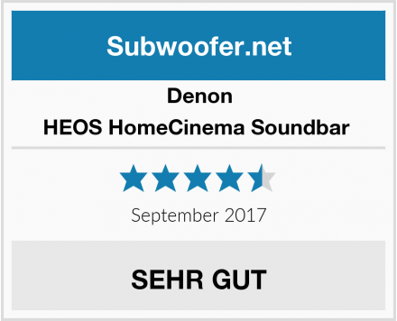 Denon HEOS HomeCinema Soundbar  Test