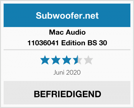 Mac Audio 11036041 Edition BS 30 Test