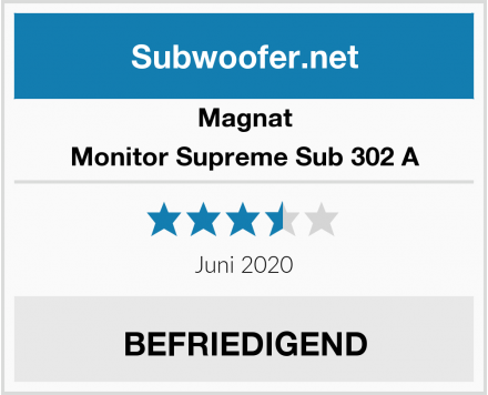 Magnat Monitor Supreme Sub 302 A Test