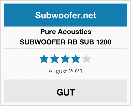 Pure Acoustics SUBWOOFER RB SUB 1200 Test