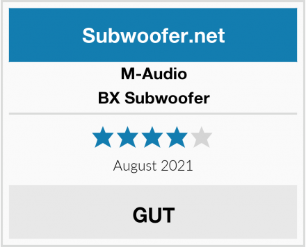 M-Audio BX Subwoofer Test