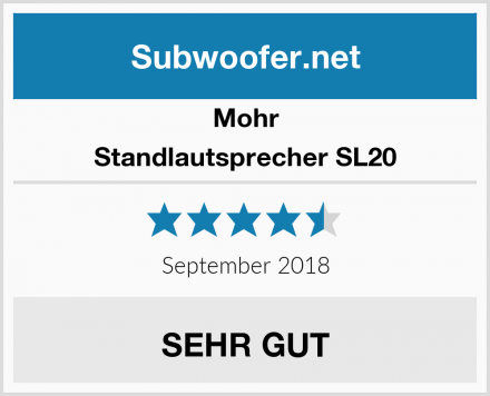 Mohr Standlautsprecher SL20 Test
