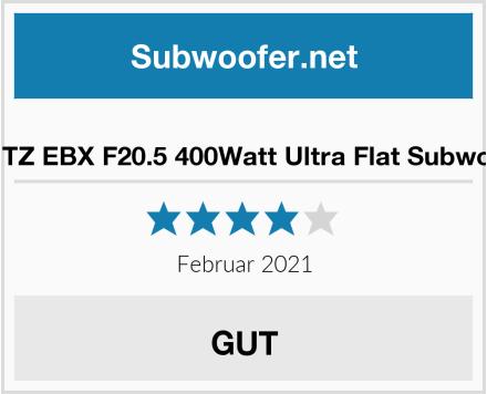 HERTZ EBX F20.5 400Watt Ultra Flat Subwoofer Test
