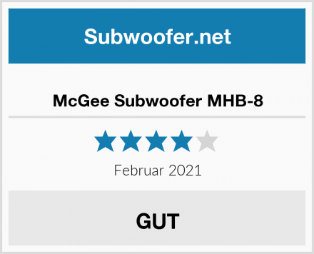 McGee Subwoofer MHB-8 Test
