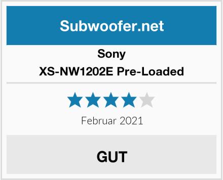 Sony XS-NW1202E Pre-Loaded Test