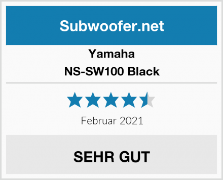 Yamaha NS-SW100 Black Test