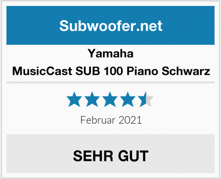 Yamaha MusicCast SUB 100 Piano Schwarz Test